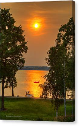 The End Of A Perfect Day Canvas Print by Wayne Moran