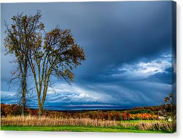 The End Of A Rainy Day Canvas Print by Jeff S PhotoArt