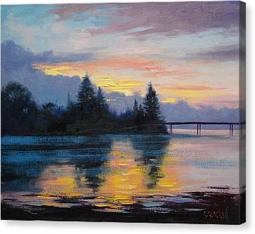The Entrance Sunset Canvas Print by Graham Gercken