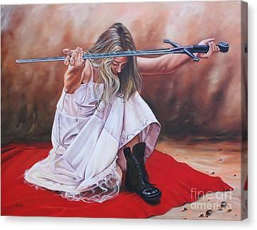 The Entrusted Sword Canvas Print by Ilse Kleyn