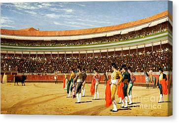 The Entry Of The Bull Canvas Print by Jean Leon Gerome