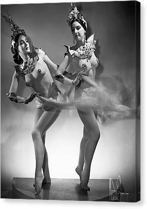 The Epler Sisters Canvas Print by Underwood Archives