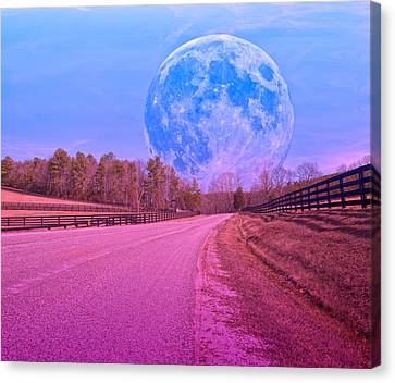 The Evening Begins Canvas Print by Betsy Knapp