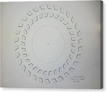 The Eye Of Pi Canvas Print by Jason Padgett