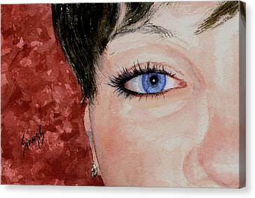 The Eyes Have It - Nicole Canvas Print by Sam Sidders