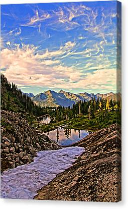 The Eyes Of The Mountain. Canvas Print by Eti Reid
