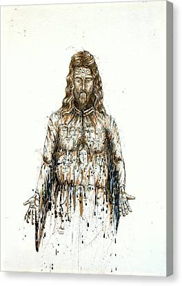 The Faces Of  Body Of Jesus Christ Canvas Print by Thomas Lentz