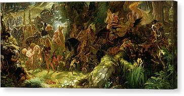 The Fairy Raid Canvas Print by Sir Joseph Noel Paton