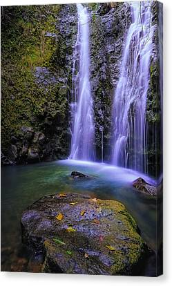 The Falls At Makamakaole Canvas Print by Hawaii  Fine Art Photography