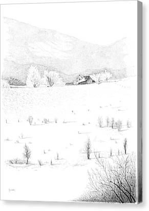 The Farm Canvas Print by Carl Genovese