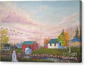 The Farm Canvas Print by Mohamed Hirji