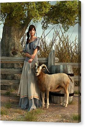 The Farmer's Daughter Canvas Print by Daniel Eskridge