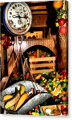 The Farmers Market Fruits And Vegetables Canvas Print by Dan Sproul