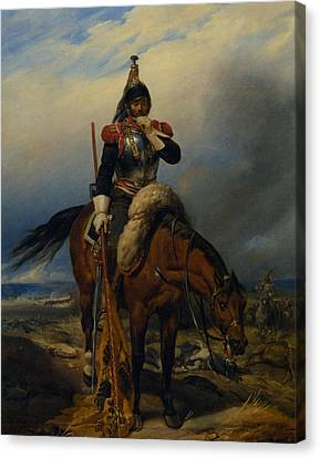 The Field Of Battle Canvas Print by Paul  Delaroche