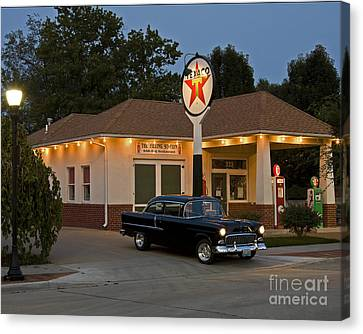 The Filling Station Canvas Print by Dennis Hedberg