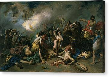The Final Day Of Sagunto In 219bc, 1869 Oil On Canvas Canvas Print by Francisco Domingo Marques