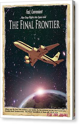 The Final Frontier Canvas Print by Juli Scalzi