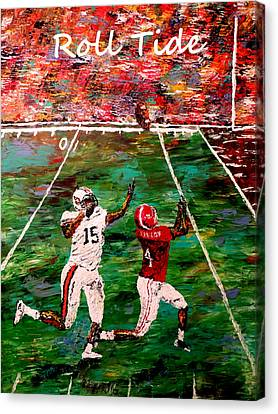 The Final Yard Roll Tide  Canvas Print by Mark Moore
