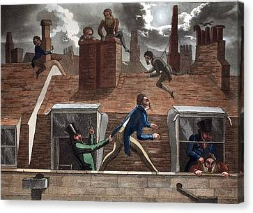 The Finishing Bore, Illustration Canvas Print by Daniel Thomas Egerton