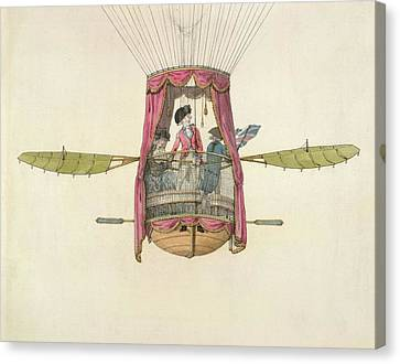 The First British Female Air Traveller Canvas Print by British Library