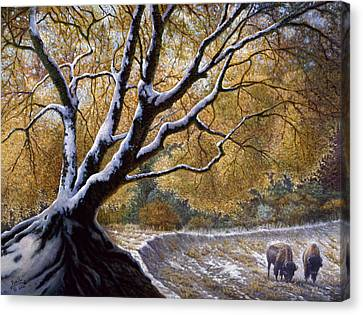The First Snow Idaho Canvas Print by Gregory Perillo