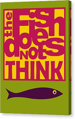 The Fish Does Not Think Canvas Print by Hakan Erdogan