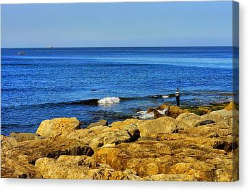 The Fisherman And The Sea Canvas Print by Marco Oliveira