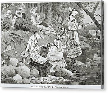 The Fishing Party Canvas Print by Winslow Homer