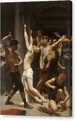 The Flagellation Of Our Lord Jesus Christ Canvas Print by William Bouguereau