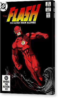 The Flash Canvas Print by Mark Rogan
