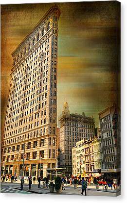 The Flat Iron Building Canvas Print by Diana Angstadt