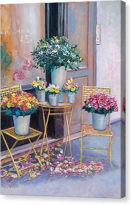 The Flower Shop Paris Canvas Print by Jan Matson