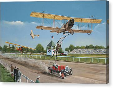 The Flying Circus Canvas Print by Kenneth Young