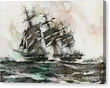The Flying Dutchman Canvas Print by Dragica  Micki Fortuna