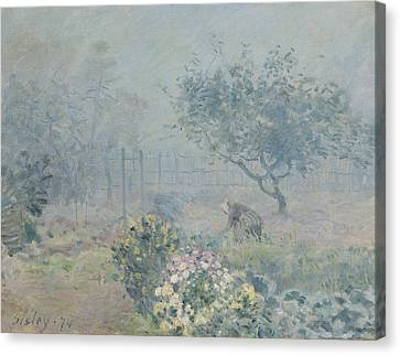 The Fog, Voisins, 1874 Canvas Print by Alfred Sisley