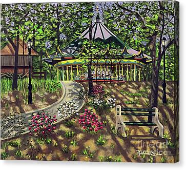 The Forest Park Carousel Canvas Print by Madeline  Lovallo