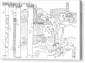 The Forum Canvas Print by Calvin Durham