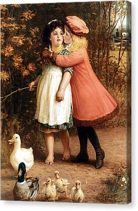 The Foster Sisters Canvas Print by Philip Richard Morris