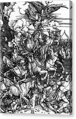 The Four Horsemen Of The Apocalypse Canvas Print by Albrecht Durer