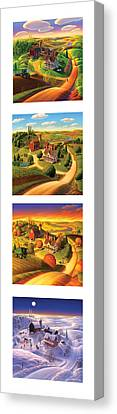 The Four Seasons Vertical Format Canvas Print by Robin Moline