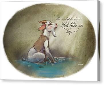 The Fox And The Goat Iv Canvas Print by Ashraf Ghori