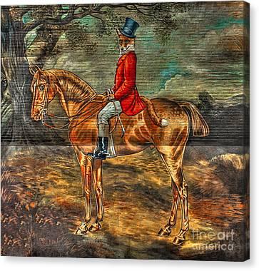 The Fox Hunt Canvas Print by Reid Callaway