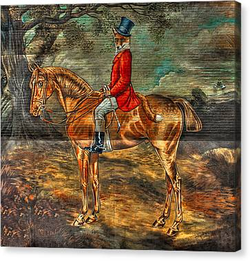 The Fox Hunt With Light Canvas Print by Reid Callaway