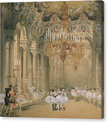 The Foyer Of The Opera During The Interval Canvas Print by French School