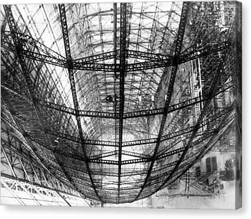The Frame Of The Hindenburg Canvas Print by Underwood Archives