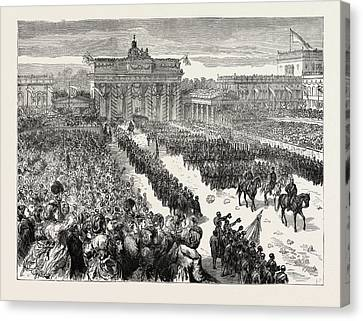 The Franco-prussian War The Triumphal Entry Of The German Canvas Print by German School