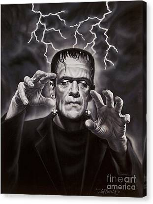 The Frankenstein Monster Canvas Print by Dick Bobnick