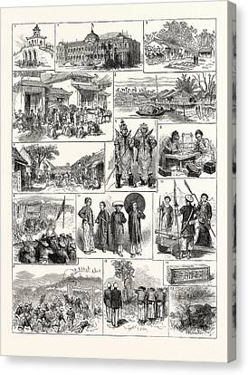 The French In Tonkin Vietnam 1. Magazine In The Citadel Canvas Print by English School