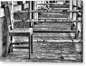 The Front Porch Bw Canvas Print by JC Findley