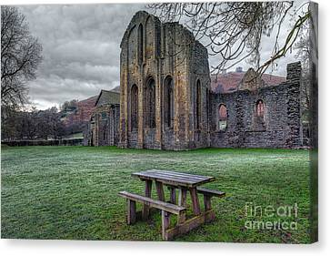 The Frosty Bench Canvas Print by Adrian Evans